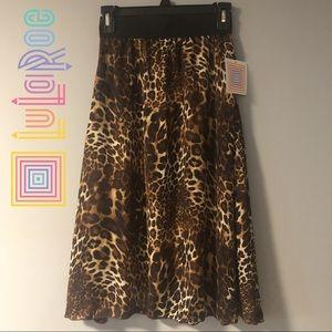 Lularoe Lola Cheetah Midi Skirt